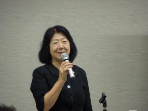 挨拶をする米田公益事業推進副委員長