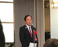 祝賀会で挨拶をする上田清司 埼玉県知事