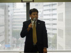 司会を務めた矢部教育研修委員
