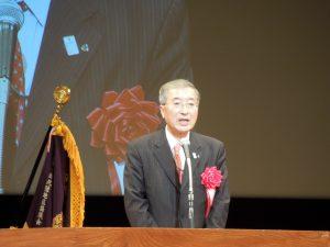 挨拶をする松浦正敬松江市長