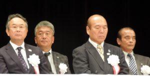 執行部席に座る佐々木富見夫常務理事(神奈川県副本部長)