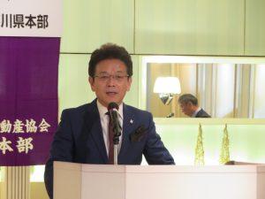 閉会の挨拶をする加藤副本部長(全日)