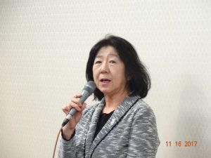 閉会の挨拶をする米田公益事業推進副委員長